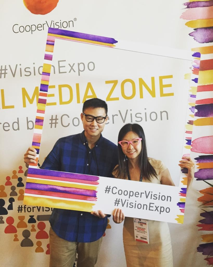 Dr. Soong and Dr. Hsu at Vision Expo West!
